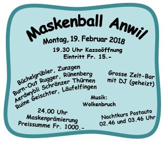 Maskenball Anwil 2018