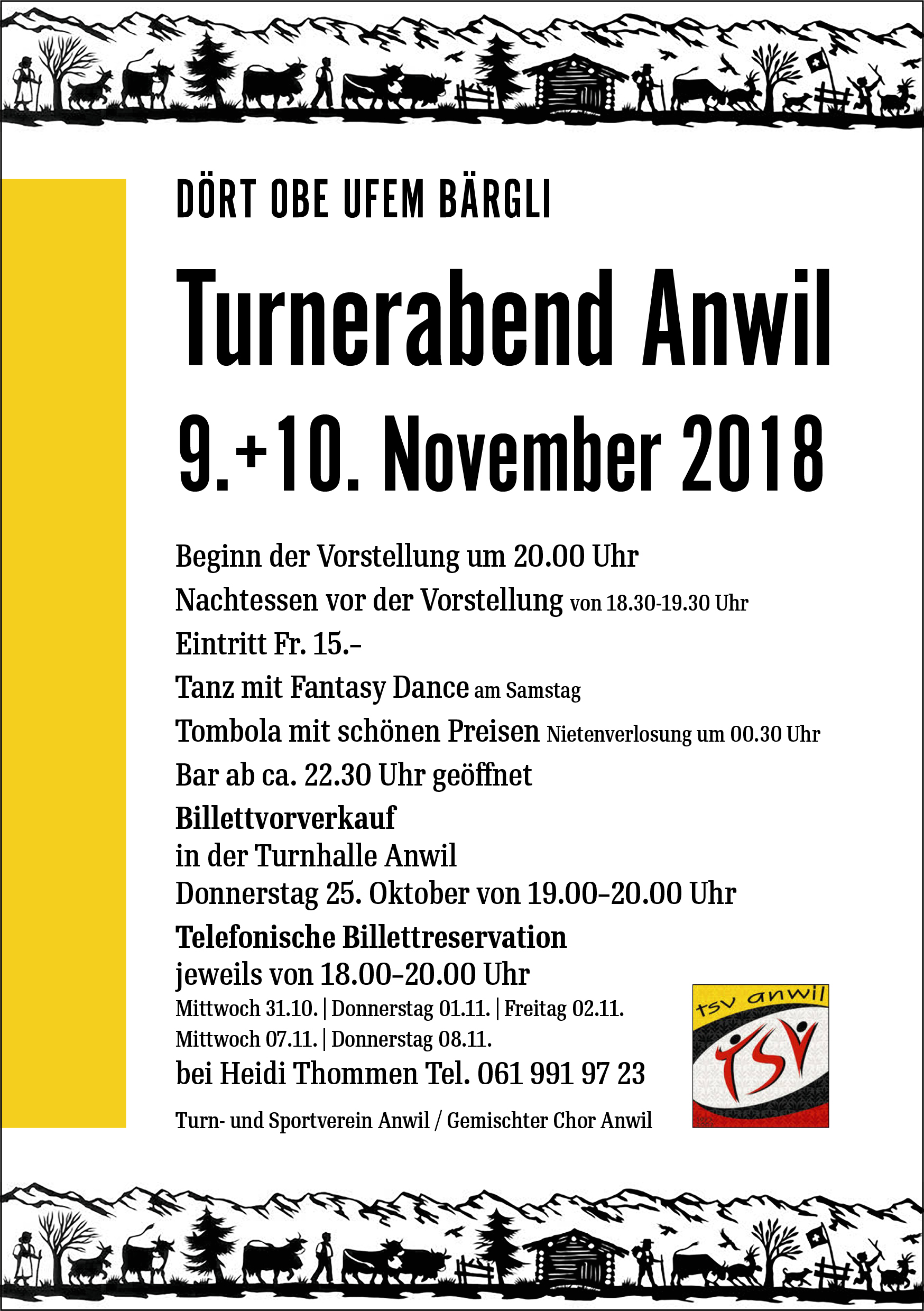 Flyer Turnerabend Anwil